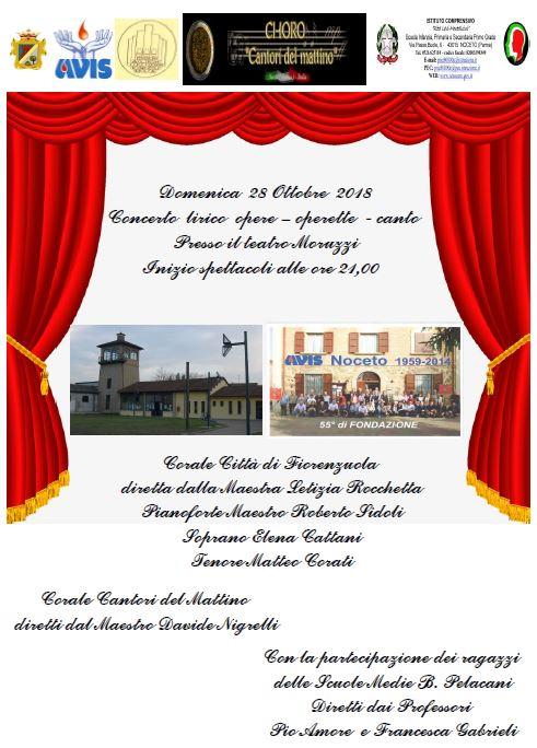 Domenica 28 ottobre – Concerto al teatro Moruzzi
