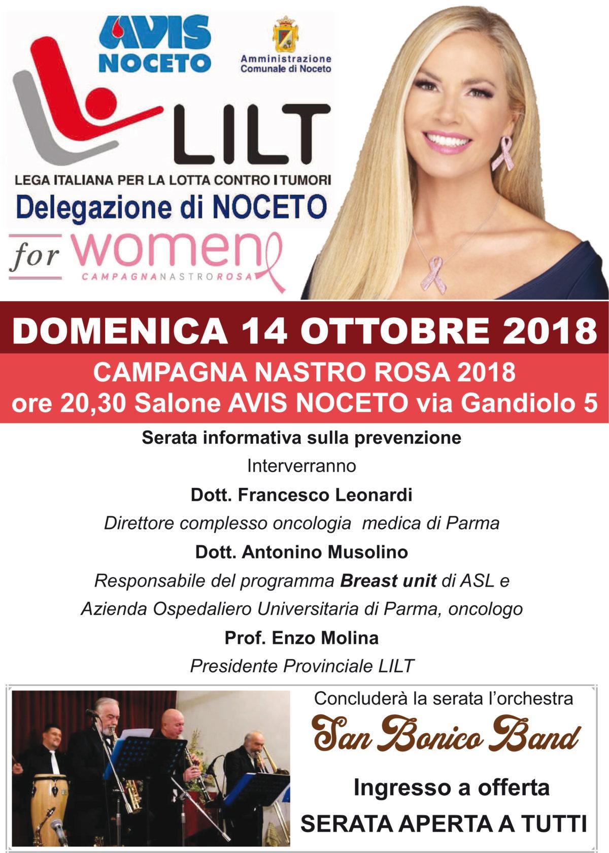 Domenica 14 ottobre ore 20.30 salone AVIS Noceto